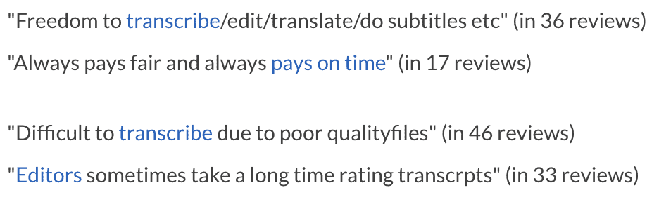 GoTranscript reviews