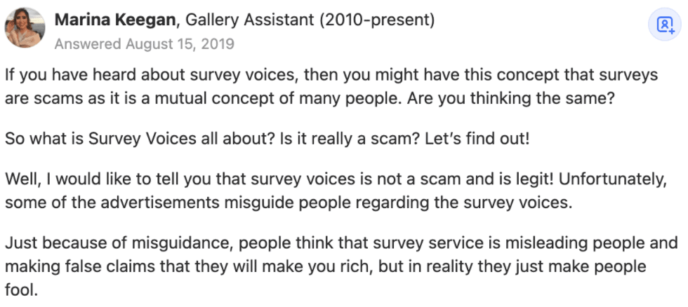 What Survey Voices' Users Say