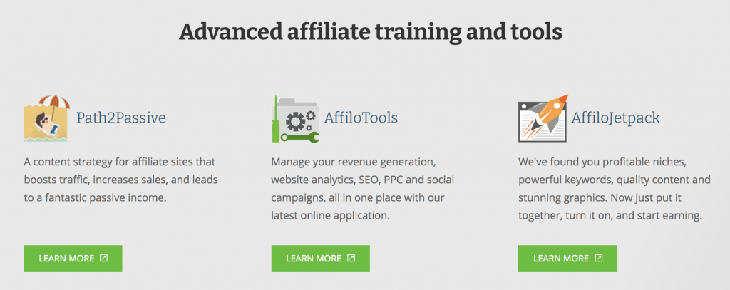 affilorama features & benefits