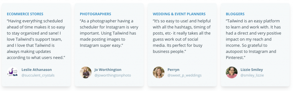 Tailwind App Positive Reviews